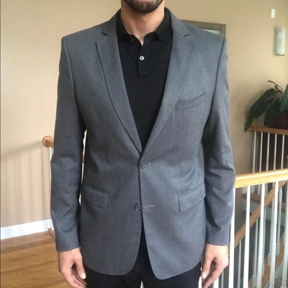 b1b9d7f856 Zara Man Slim Fit Gray Stretch Blazer Sportcoat 44
